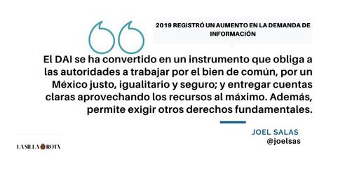 2019 registró un aumento en la demanda de información