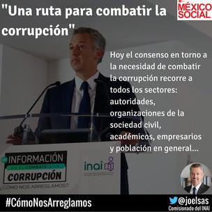 Una ruta para combatir la corrupción. 01/ 07/ 16