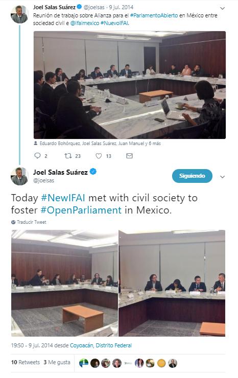 #NuevoIFAI y #Parlamentoabierto en México