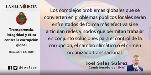 Transparencia, integridad y ética contra la corrupción global.