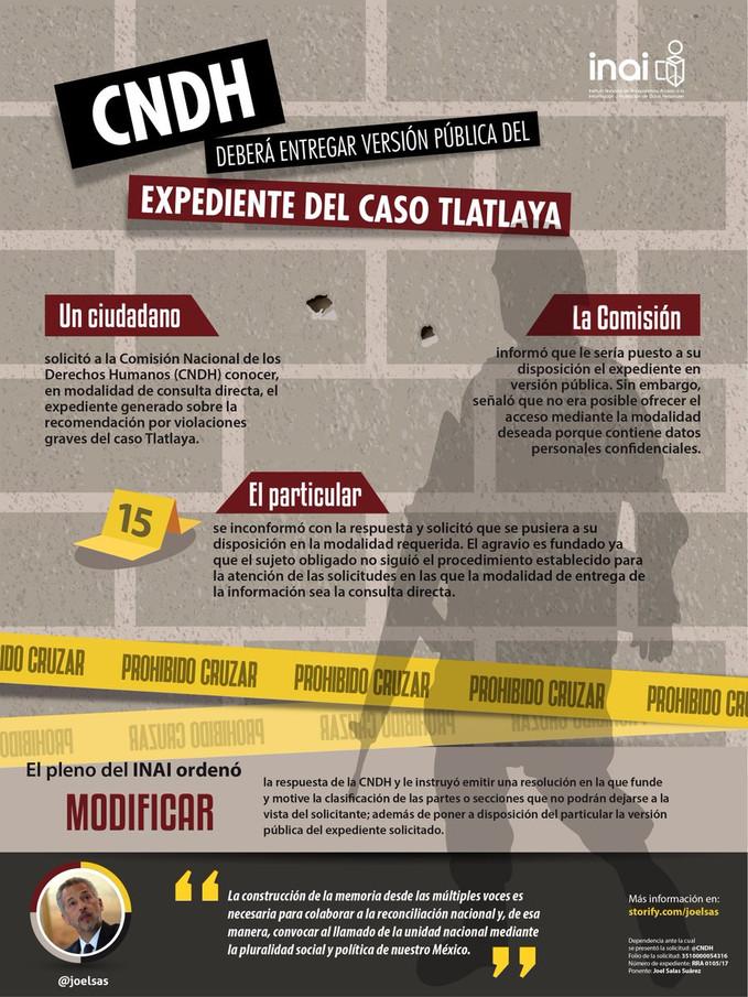 CNDH deberá entregar versión pública del expediente del caso Tlatlaya.