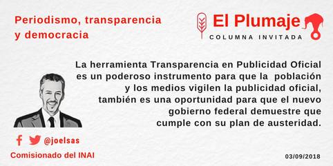 Periodismo, transparencia y democracia