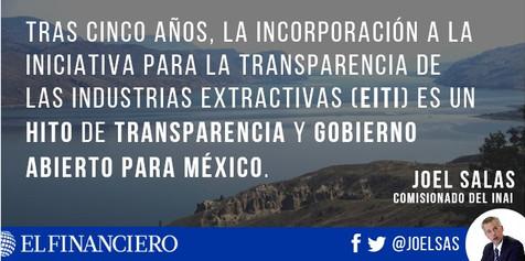 Transparencia para mejorar la explotación de recursos naturales