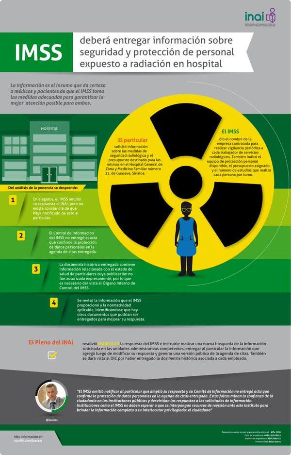 IMSS deberá informar sobre medidas de protección para personal expuesto a radiación