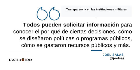 Transparencia en las instituciones militares
