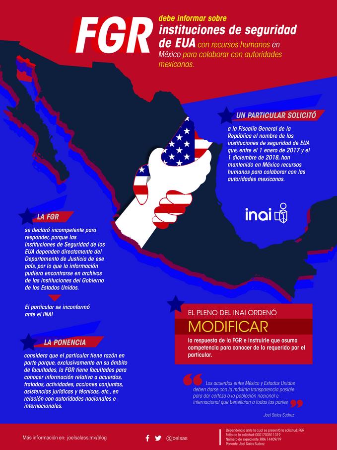 FGR debe informar sobre instituciones de seguridad de EUA con personal en México para colaborar con