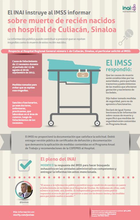 IMSS deberá informar sobre muerte de recién nacidos en hospital de Culiacán, Sinaloa.