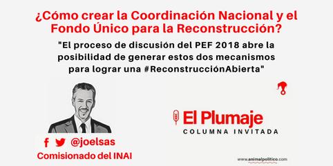 ¿ Cómo crear la Coordinación Nacional y el Fondo Único para la Reconstrucción ?