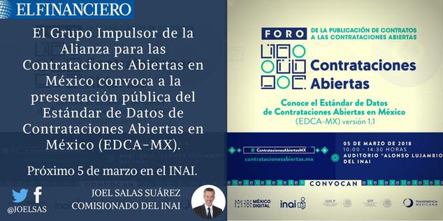 Contrataciones abiertas para controlar la corrupción en México