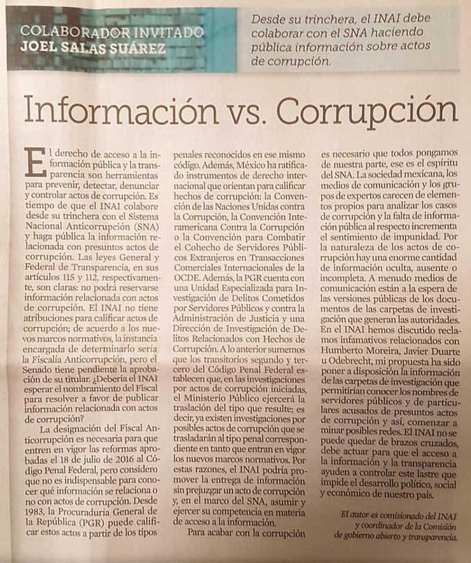 Información vs. Corrupción