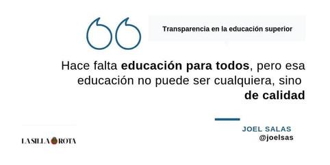 Transparencia en la educación superior