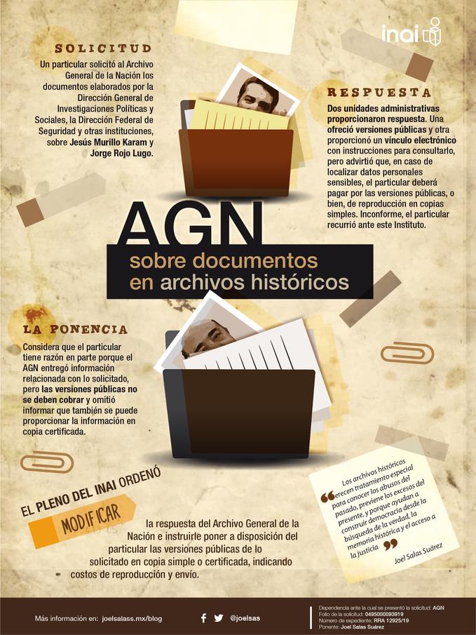 AGN debe entregar archivos históricos relacionados con Murillo Karam y Rojo Lugo