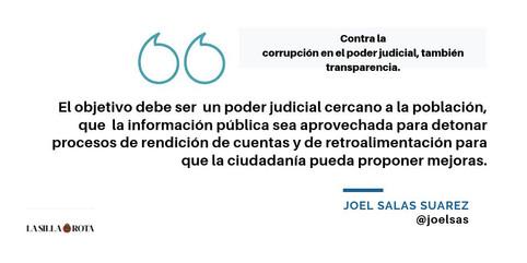 Contra la corrupción en el poder judicial, transparencia