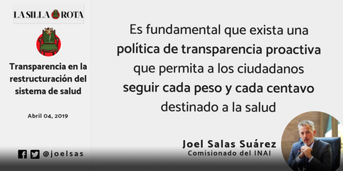 Transparencia en la restructuración del sistema de salud