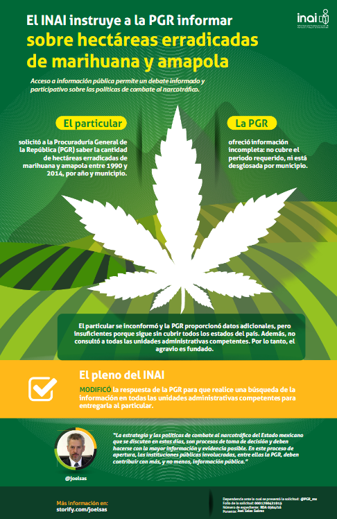 PGR deberá informar sobre erradicación de plantíos de marihuana y amapola