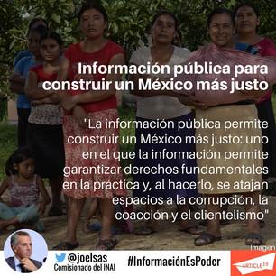Información pública para construir un México más justo.
