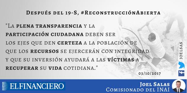 Después del 19-S, #ReconstrucciónAbierta
