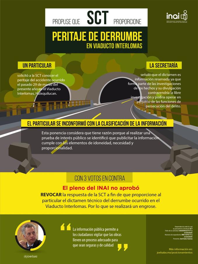 Propongo que SCT dé a conocer peritaje de accidente en Viaducto Interlomas