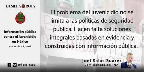 Información pública contra el juvenicidio en México