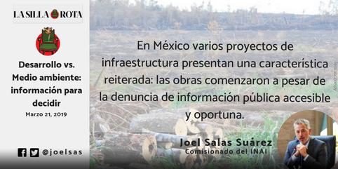 Desarrollo vs. Medio ambiente: Información para decidir