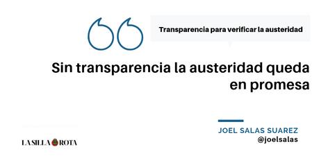 Transparencia para verificar la austeridad