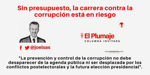 Sin presupuesto, la carrera contra la corrupción está en riesgo 13/ 06/ 17