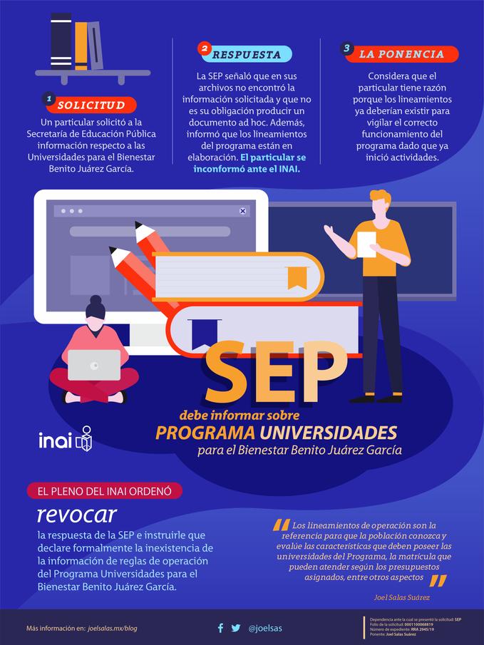 SEP debe informar sobre Universidades para el Bienestar Benito Juárez