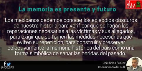 La memoria es presente y futuro