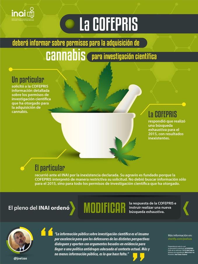 La COFEPRIS deberá informar sobre permisos para la adquisición de cannabis para investigación cientí