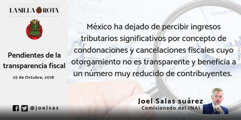 Pendientes de la transparencia fiscal