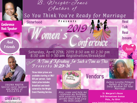 Author B. Wright-Jones Presents 2019 Women's Conference
