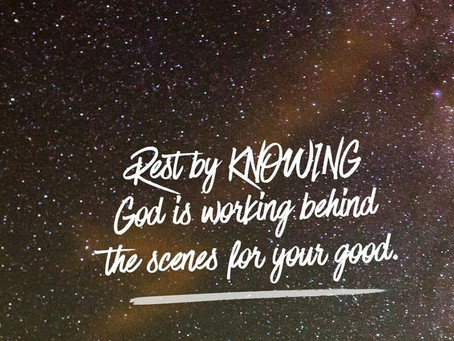 Rest In Knowing.....