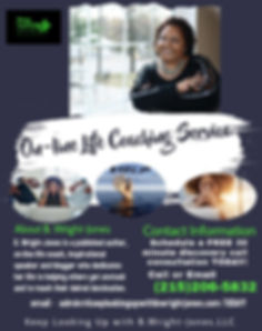 On-Line life coach flyer - Made with Pos