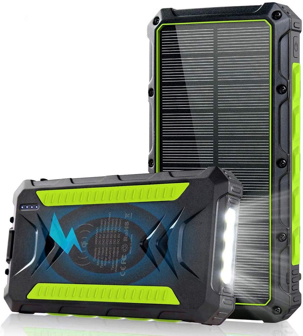 Meilleur Chargeur solaire portable jaune
