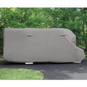 housse camping car foret