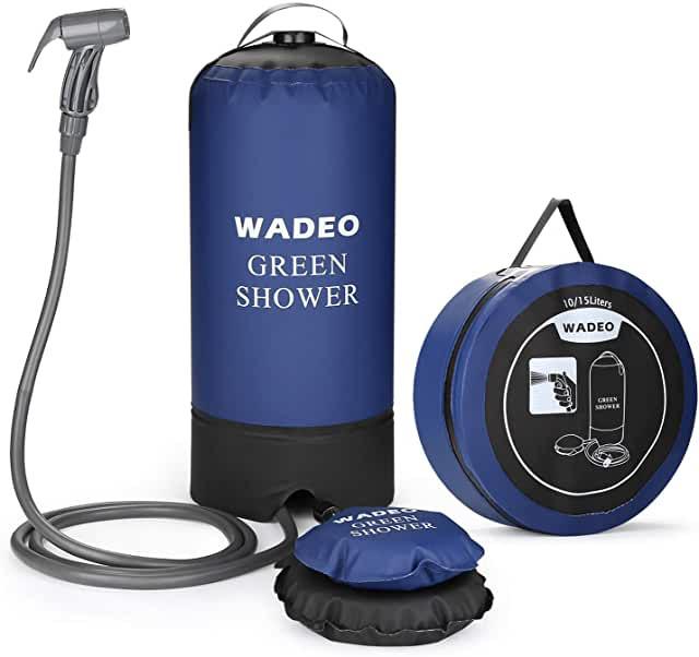 douche de camping avec pompe