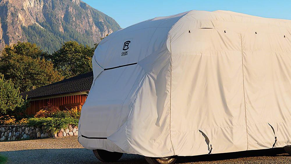 Housse Camping Car fond montagne