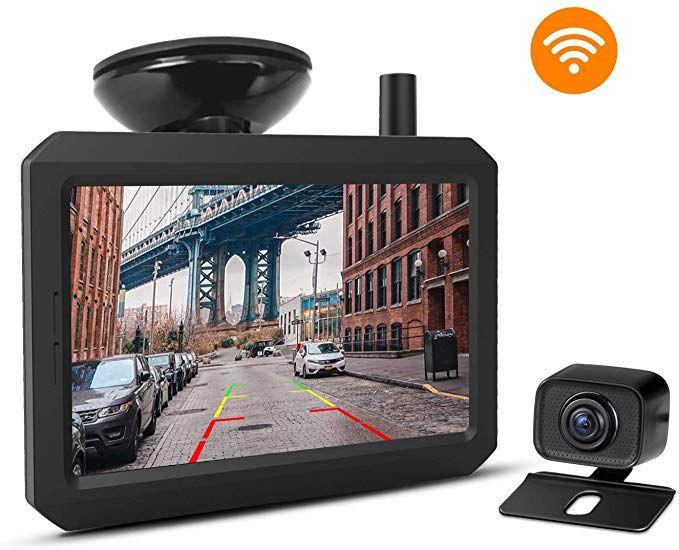 caméra de recul sans fil dans la ville