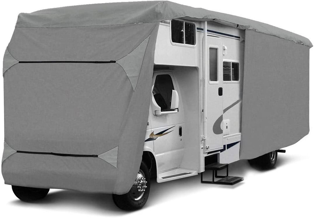 housse camping car grise