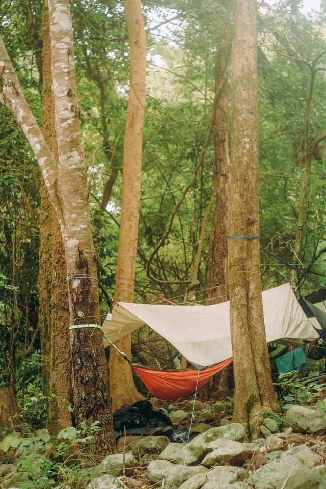hamac de camping avec moustiquaire Pyrenee ete 2020