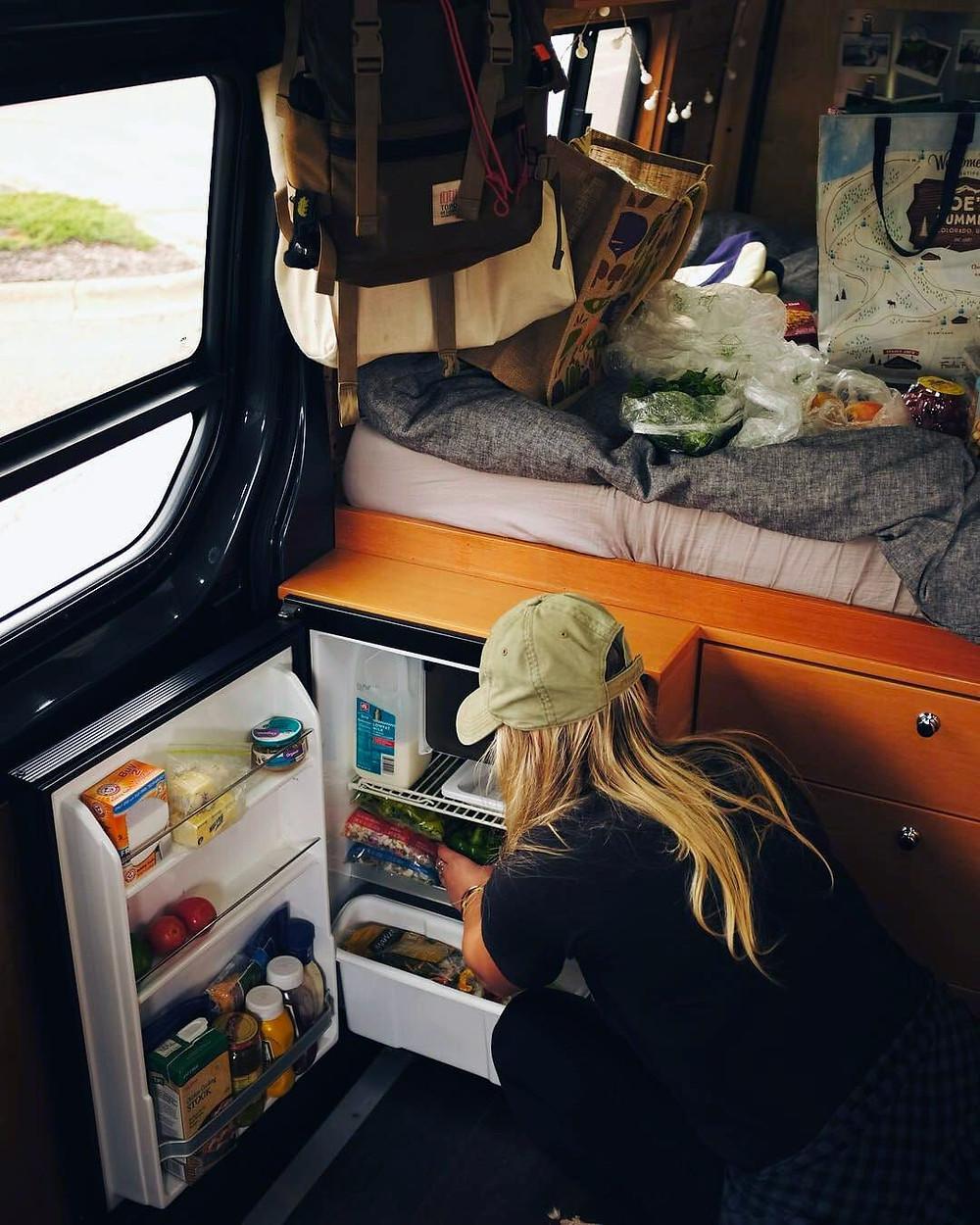 frigo trimixte camping car