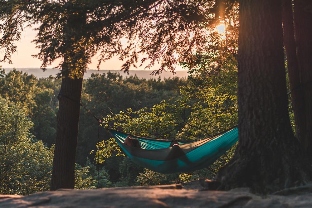 hamac de camping avec moustiquaire