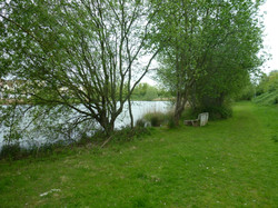 Secluded walk round the lake
