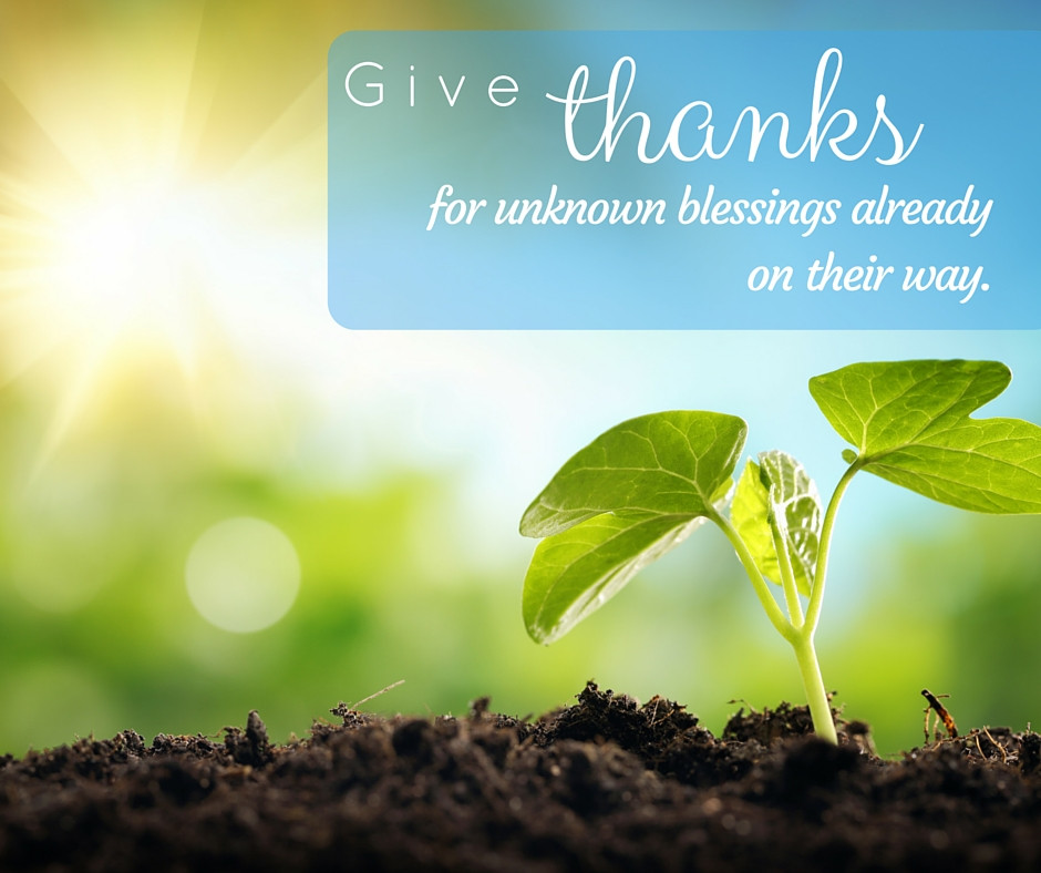 Inspirational quote about thankfulness
