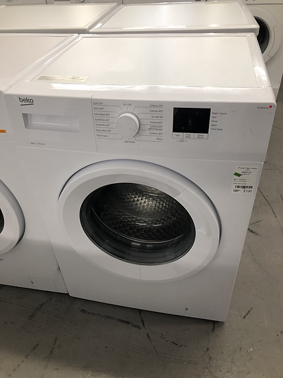 (483) BEKO WTK82011W 8 kg 1200 Spin Washing Machine - White