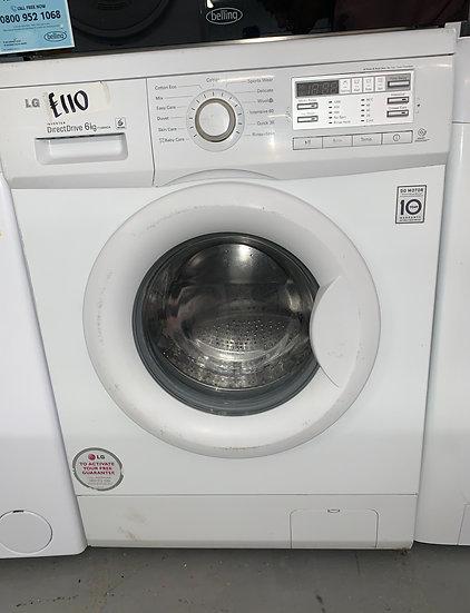 LG F12B8NDA Direct Drive 6kg A+++ Washing Machine - White
