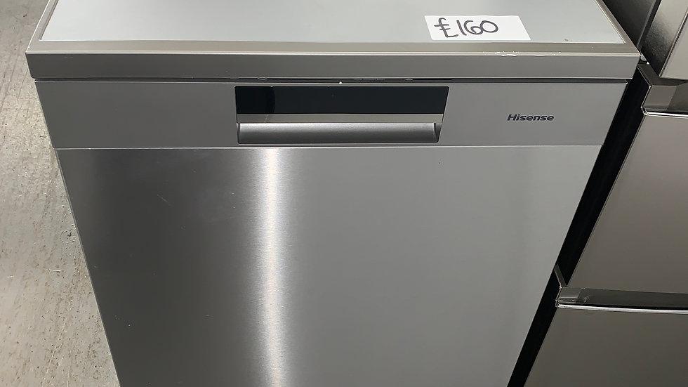 (589) Hisense HS661C60XUK Standard Dishwasher - Stainless Steel - C Rated