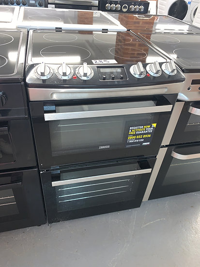 Zanussi 55cm Electric Cooker - Stainless/Black
