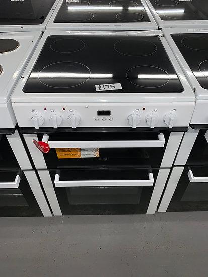 Bush BDBL60ELW 60cm Double Oven Electric Cooker - White *GRADED*