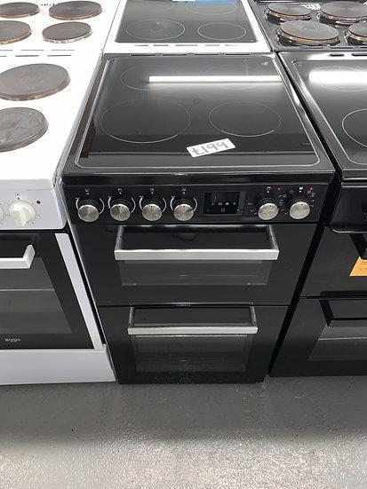 New World NWLS50TEB 50cm Twin Cavity Electric Cooker - Black *GRADED*